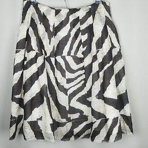 Banana Republic Jungle Animal Zebra Print Skirt